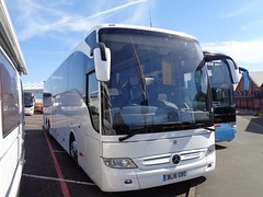 BL16GBO brand new Mercedes Benz Tourismo tri-axle in Blackpool (j.a.sanderson) Tags: bl16gbo brand new mercedes benz tourismo triaxle blackpool coach coaches birmingham brandnew