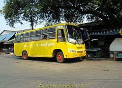Cute little buses in Chonburi town in 2010, Chonburi Province, Thailand. (samurai2565) Tags: chonburi chonburicity chonburiprovince banglamung floatingmarketsinthailand muangchonburi sukhumvitroad pattayafloatingmarket beachroad festivalshoppingmall walkingstreet jomtien