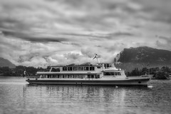 cruising (kderricotte) Tags: lakelucerne switzerland europe cruise boat water sonya6000 monochrome blackandwhite