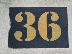 Week 36 (d_t_vos) Tags: 36 thirtysix number week weeks calendar numericcharacter character address streetnumber housenumber weeknumber propertynumber symbol sign shield weeknumberproject 2016 stone paint yellow architecture abstract texture text outdoor netherlands dickvos dtvos 36frame