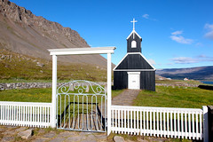 Behind the Gate _5161 (hkoons) Tags: westfiords westfjords cathedral christ christian iceland architecture building faith faithful fiord fjord island modern north peninsula philosophy religion sect worship worshipers