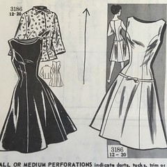 3186 (mrogers1@uw.edu) Tags: blouse dress vintage mailorder 1950s sewing patterns mail order dresses blouses 1960s sleeveless princess seams jumpers oval neckline band trim bow front button closing threequarter sleeves tie collar flared skirts