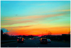IMG_7255_Sunset_Highway_VA2016 (Stephenie DeKouadio) Tags: canon photography outdoor sunset painting virginia highway art artistic color colour colorful dusk sky