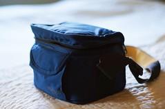 Camera Bag (rolandmks7) Tags: sonynex5n camera camerabag sherpa blue backlight