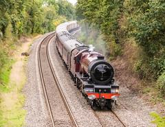 Return Spirit Of The Lakes (Steve Franklin Images) Tags: steam steamengine steamlocomotive steamtrain lms princessclass 8p 462 46201 princesselizabeth spiritofthelakes railtour mortimer berkshire unitedkingdom