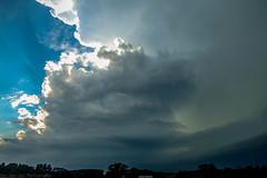 September 6 2016 Tornado Warned Supercell (Dan's Storm Photos & Photography) Tags: skyscape skyscapes sky shelfcloud severethunderstorm supercell shelf storms supercellthunderstorm landscape landscapes wallcloud wisconsin weather wallclouds nature updraft updrafts anvil anvils crepuscular crepuscularrays
