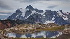 Mount Shuksan (keithc1234) Tags: mountshuksan shuksan northcascades huntoonpoint kulshanridge landscape mountain snow glaciers reflection