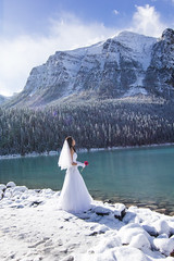 in W.H.I.T.E (Choc') Tags: wedding love relationship bride inwhite weddingdress canon60d lakelouise bandd canada travel randomshot