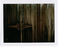 rusted (lydiafairy) Tags: rusty weathered polaroidlandcamera polaroid roidweek16 roidweek day4 latch shed weatheredwood roid instant film peelapart fuji