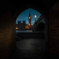 Parliament (Explored 23-10-2016) (Tony Lu) Tags: riverthames parliament westminster subway bridge westminsterbridge bigben london londonatdusk londonarchitecture longexposure canon5d canon1740f4lusm