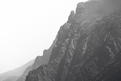 Nothing Beyond (zh3nya) Tags: smoke cliffs mountain alpine rock jagged rugged steep spire yosemite parker cliffside monocounty california ca sierranevada highsierra hiking easterncalifornia easternsierra surreal haze d750 nikkor70200f4