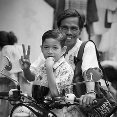 With His Son (michael.veltman) Tags: jakarta indonesia moped father son peace