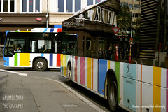 Spectral Buses (Saumil U. Shah) Tags: luxembourg hacklu europe autumn fall colours colors spectrallines saumil shah saumilshah therealsaumil bus