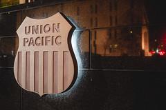 Shield (Electric Funeral) Tags: omaha midwest councilbluffs nebraska lincoln fremont desmoines kansascity kansas missouri iowa shield badge logo unionpacific headquarters canon 5d digital photography