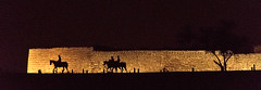 (Hdpsp) Tags: light horse silhouette wall night bahrain gulf arabia fortress