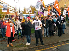 NHS workers strike for fair pay (Benjamin Buttony) Tags: london st hospital union protest solidarity nhs strike unions worker gmb georges picket midwives unison blackshaw rcm