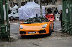Lamborghini Gallardo Spyder (xwattez) Tags: park france car square italian automobile jardin grand voiture spyder transports toulouse lamborghini supercar gallardo cabriolet rond italienne dcapotable vhicule 2013 boulingrin