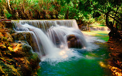 (Sunrider007) Tags: panorama water forest canon river landscape waterfall rainforest stream pano sony si smooth jungle laos cascade lao mekong teleconverter tse kuang luang prabang phrabang louangphrabang louang 24l a7r