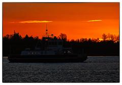 IMG_5860 - Sunset / Silhouette (Arne J Dahl) Tags: sunset water silhouette ferry canon harbor view danmark solnedgang vand frge veiws nordjylland canonef400mmf56lusm halsegense canonef400f56l canon5dmarkll halshavn elementsorganizer11