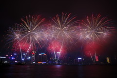 2015 Year of the Goat Chinese New Year Firework 2015 (TFG Lau) Tags: hongkong fireworks outdoor chinesenewyear firework  victoriaharbour 2015   2015