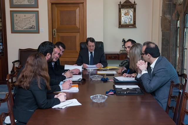 Συνάντηση του Προέδρου της Δημοκρατίας με το ΔΣ του ΟΝΕΚ