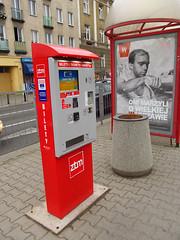 A ticket machine on tram stop in Warsaw (transport131) Tags: machine stop infrastructure automat przystanek ticet infrastruktura biletomat