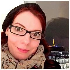 Hello (Christine Krizsa) Tags: winter paris france tower hat self square tour eiffel christine squareformat selfie krizsa iphoneography instagramapp