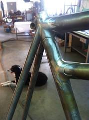 Seat tube lugs finished (Bantam Bicycle Works) Tags: usa bike bicycle handmade steel made frame works custom bantam lugs lugged