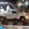 #Repost @robertmano with @repostapp.・・・POPE FRANCIS during motorcade in Roxas Blvd
