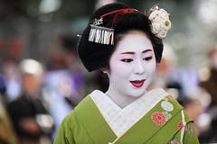 Kimono (Teruhide Tomori) Tags: portrait woman girl beauty festival japan lady kyoto maiko   kimono tradition   kitanotenmangu baikasai ef70200mmf28l    canoneos5dmark