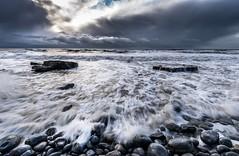 Storm Brewing, Southerndown (technodean2000) Tags: uk sea sky storm wales clouds brewing landscape coast rocks south pebbles southerndown pebles