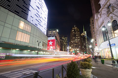 Herald Square (Jemlnlx) Tags: street new york city nyc 3 ny blur building night canon square landscape eos evening is state mark iii tripod empire l 5d usm 34th ef f4 gitzo herald 1635mm
