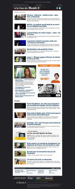 A la Une : Ukraine : offensive « antiterroriste  dans lest, à Slaviansk - MH370 : le copilote aurait tenté de se servir de son téléphone portable