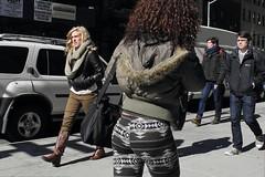 cowboy boots (omoo) Tags: newyorkcity girls boys girl boots streetscene sidewalk blonde greenwichvillage cowboyboots universityplace blondegirl blackandbrown cowgirlboots beautifulblonde bootsbrown dscn5845 girlwearingcowboyboots girlsandboysbutnottogether
