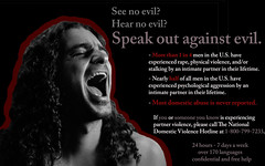 Speak Out Against Evil. (carinasuarez3) Tags: contrast photoshop victim speaknoevil seenoevil hearnoevil domestic domesticviolence abuse psa speakout domesticabuse physicalabuse