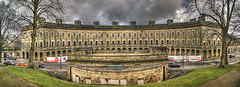 Work in progress. (sidibousaid60) Tags: uk autostitch panorama buxton derbyshire hdr georgianarchitecture thecrescent photomatix