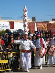 Balancing Jugs on Head at International Sahara Festival