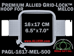 Melco Embroidery Hoops - 16 x 17 cm (6.5 x 7.0 inch) Rectangular Premium Allied Grid-Lock Plastic Embroidery Hoop / Frame for Melco Tubular Embroidery Machines - 500 mm (19.7 inch) Arm Spacing / Sew Field (alliedintl) Tags: hoop logo grid frames embroidery chest frame hoops left gridlock allied melco