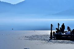 余呉湖12・Lake Yogo (anglo10) Tags: lake snow japan 雪 湖 滋賀 余呉 余呉湖