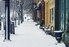 Back to Winter (Matt Champlin) Tags: life morning winter usa snow ny canon march downtown village snowy walk upstatenewyork fingerlakes streetscape sidewalks iloveny 2015 skaneateles endlesswinter
