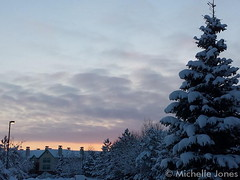 February 27, 2015 - A gorgeous sunrise with a snowy landscape in Thornton. (Michelle Jones)