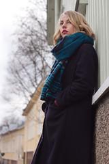 S I (Faanatar) Tags: she street winter portrait woman girl canon suomi finland 50mm photo spring turku pic gata martti rate bo 500d 2015 muotokuva katu valokuva tytt nainen