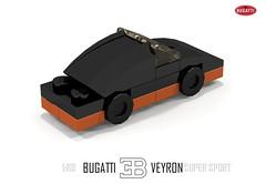 Bugatti Veyron Super Sport (1:89) (lego911) Tags: world auto records car sport vw volkswagen model break lego lets render ss go some super turbo record 88 bugatti coupe supercar challenge holder cad w16 lugnuts 2010 veyron 189 povray faster moc ldd hypercar lego911 letsgobreaksomerecords