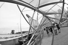 Helix (ah.b|ack) Tags: bridge bw marina ed bay sony fisheye helix 12mm sands tilt f28 ncs a7ii samyang as a7mk2 samyang12mmf28asncsfisheye