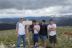Top of the World - Rocky Mountains (aaronrhawkins) Tags: rocky mountains rockymountainnationalpark summit colorado ftcollins summer trip vacation family peak tundra cold pose thinair smiles shortsleeves aaronhawkins