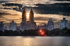 Sunset Central Park West (hwicker) Tags: sunset eldorado centralparkwest nyc onassisreservoir