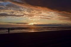 Sunset on the beach in Warrenton, Oregon. (calex14_photog) Tags: ocean blue sunset sea vacation sky orange cloud beach water azul clouds oregon mar agua nikon playa nubes nube oceano puestadelsol nikond750