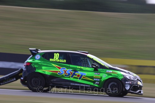 Ant Whorton-Eales in the Clio Cup during the BTCC 2016 Weekend at Snetterton