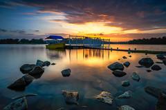 Sunset Boat (- Etude -) Tags: none sunset boat landscape zachchang sony a7ii rocks orange singapore