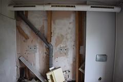 Destroyed sanitary block (baurichter) Tags: berlin monument concrete plattenbau ddr derelict gdr urbanexploring urbex wollenbergerstrasse